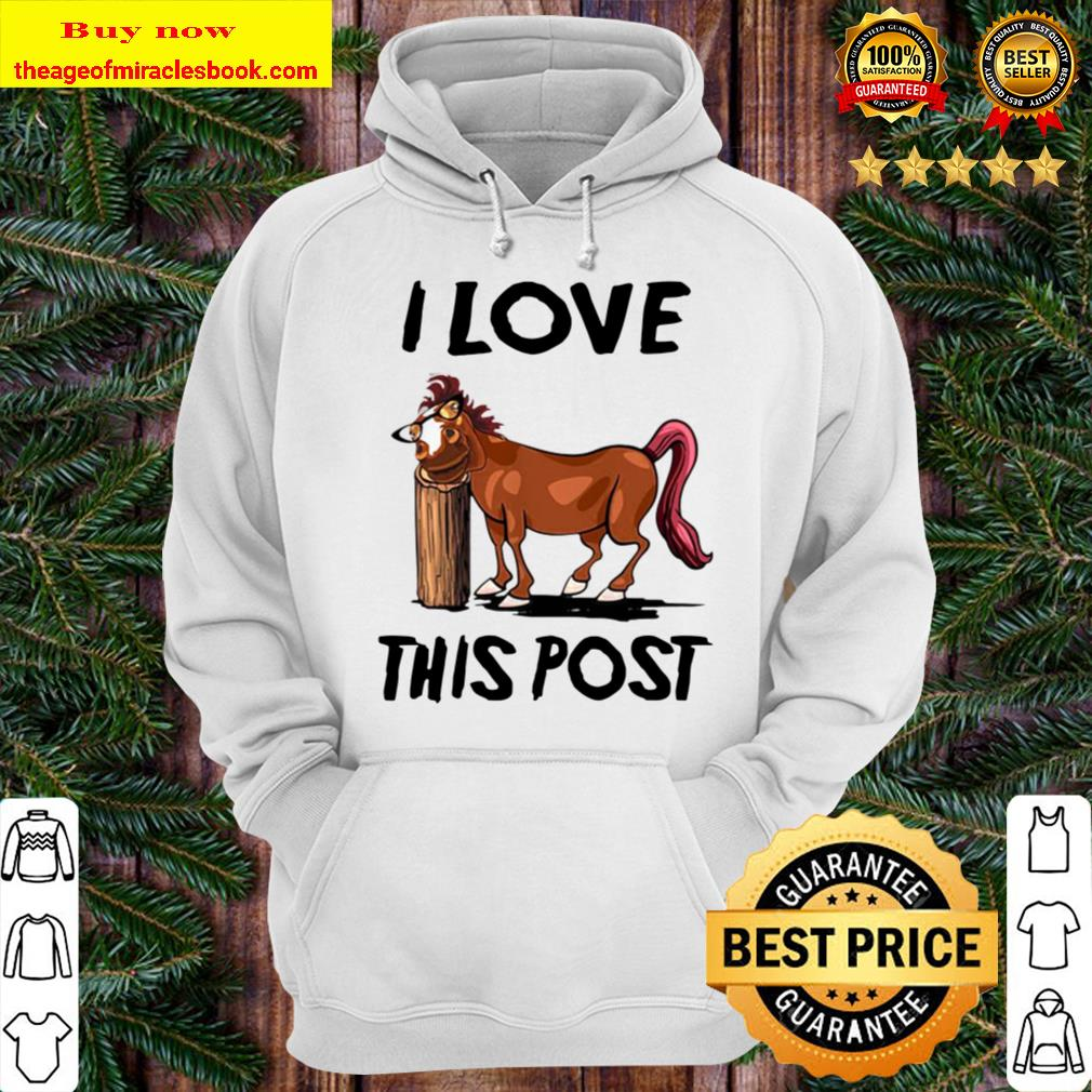 Funny Horse I Love This Post Hoodie