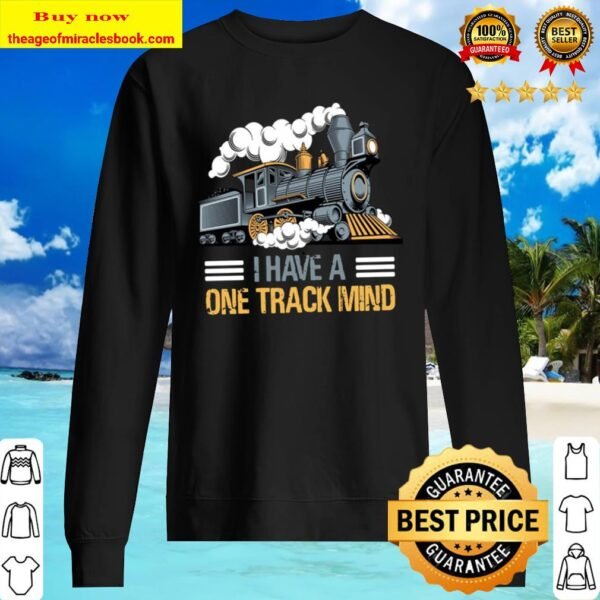 I Have A One Track Mind Train Gift Sweater