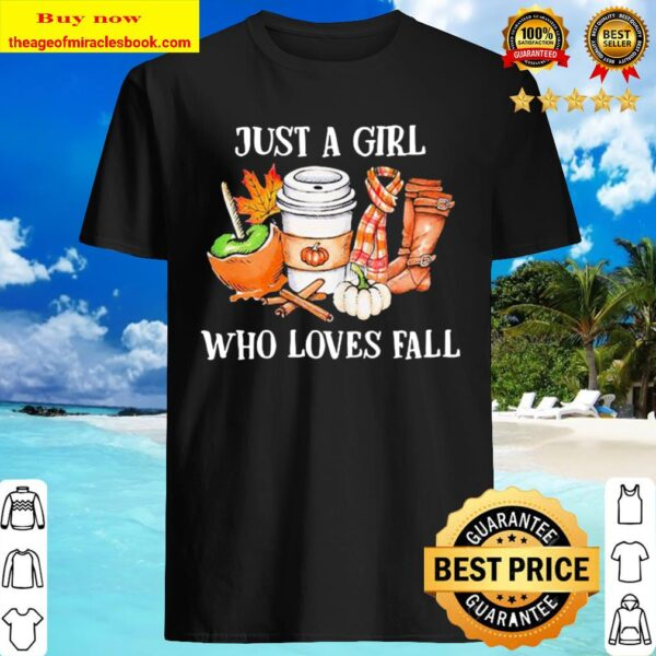 Just a girl who loves fall leave map Shirt