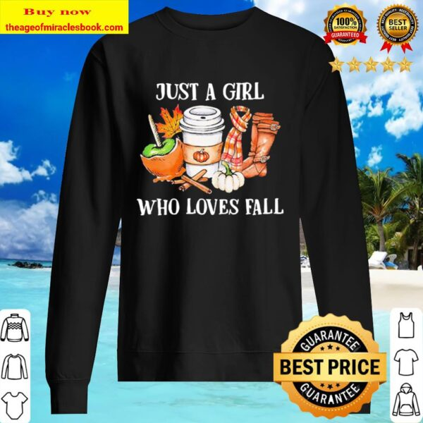 Just a girl who loves fall leave map Sweater