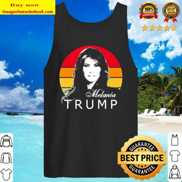 Melania trump first lady of the united states vintage retro Tank Top