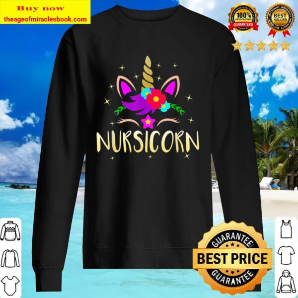 Nursicorn Unicorn Gift For Female Nurse Sweater