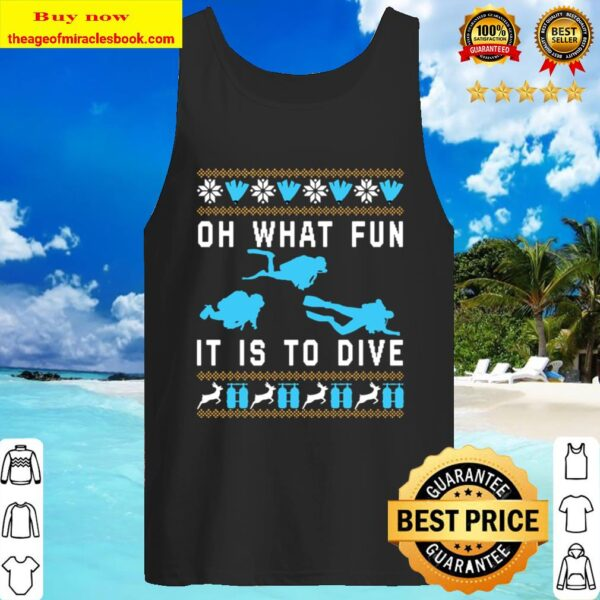 Oh what fun it is to dive Christmas Tank Top