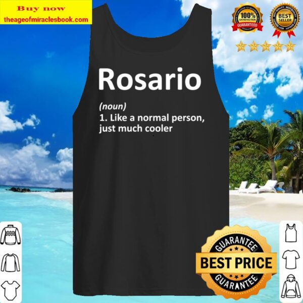 ROSARIO Definition Personalized Name Funny Birthday Gift Tank Top