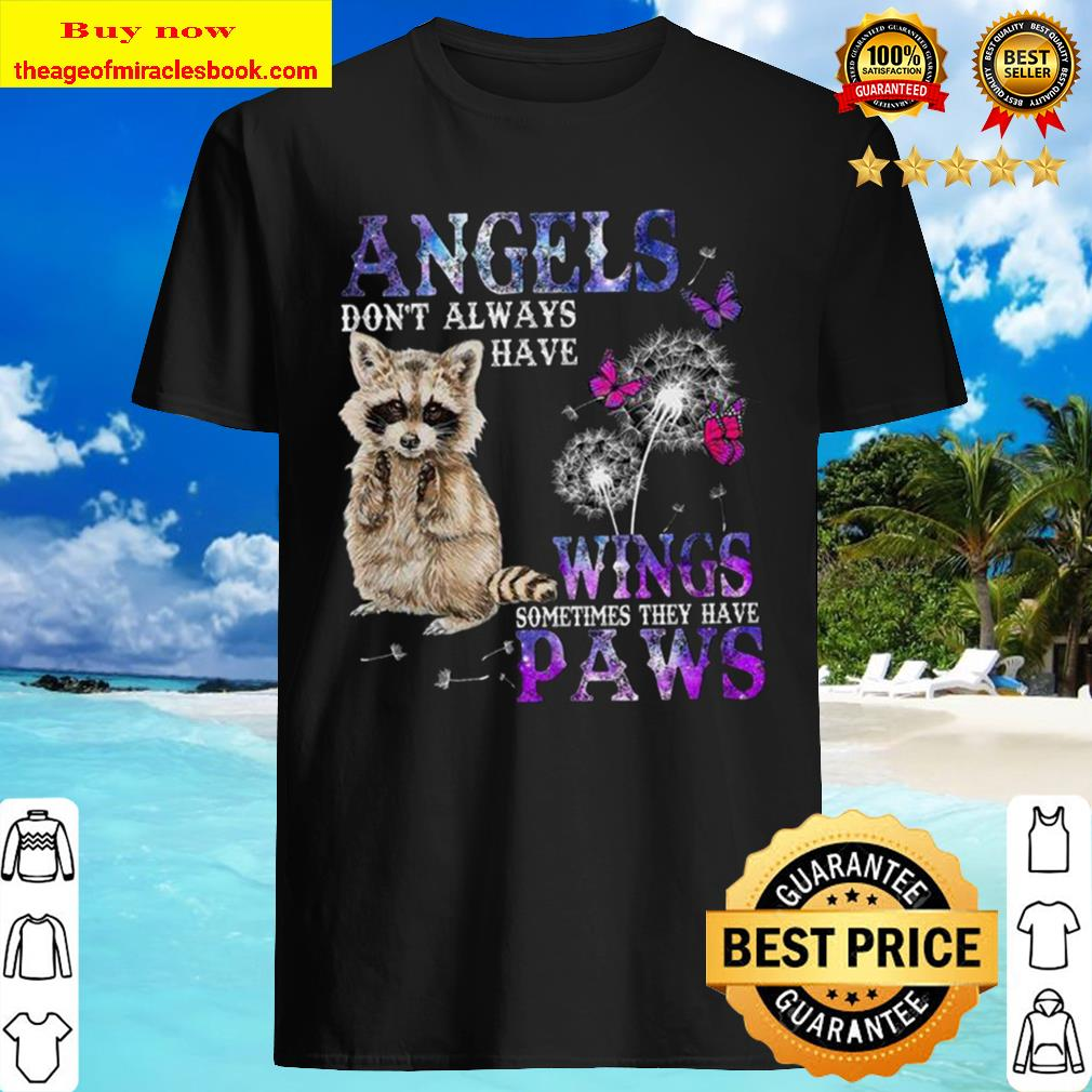Racoon angels wings paws Shirt