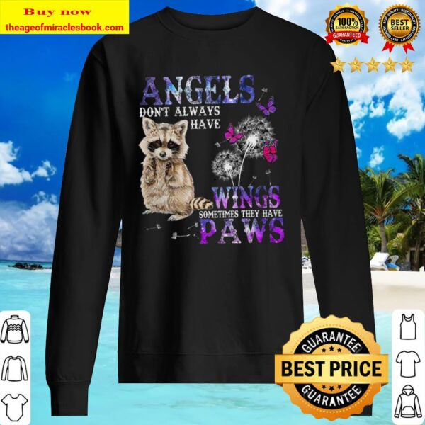 Racoon angels wings paws Sweater