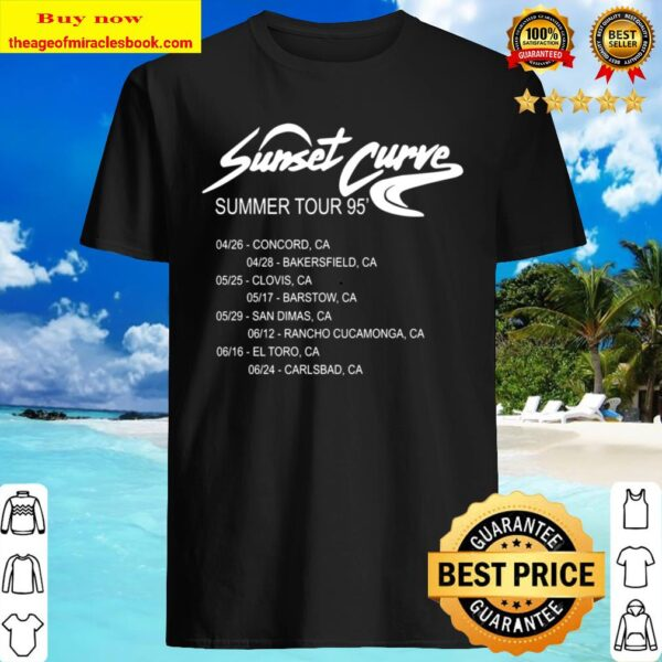 Sunset Curve Tour Date Shirt, Julie And The Phantoms Shirt, Back Sunse Shirt