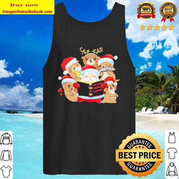 The night before Christmas Merry Otter Crew Neck Tank Top