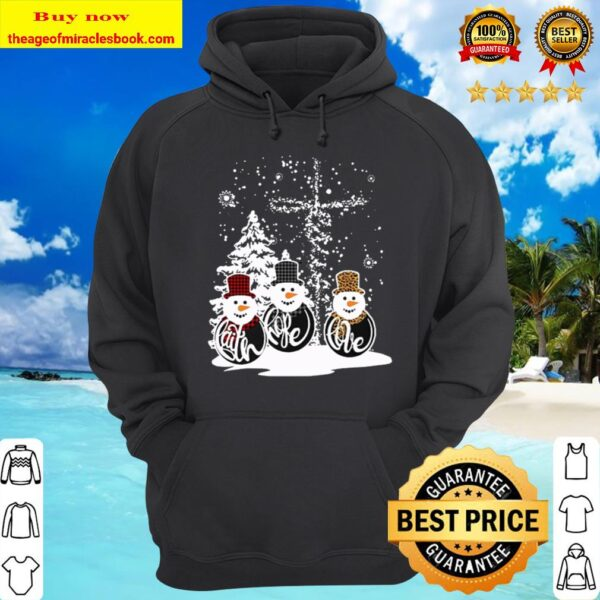 Three Snowman Merry Christmas Hoodie