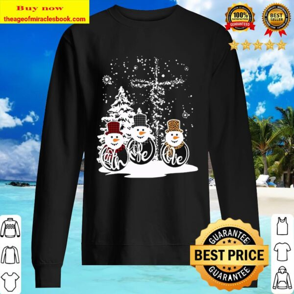 Three Snowman Merry Christmas Sweater