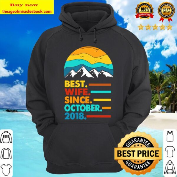 Womens 2nd Wedding Anniversary Gift For Her 2 Years Best Wife Hoodie