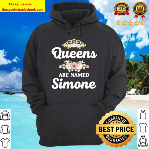 Womens Queens Are Named SIMONE Personalized Christmas Hoodie
