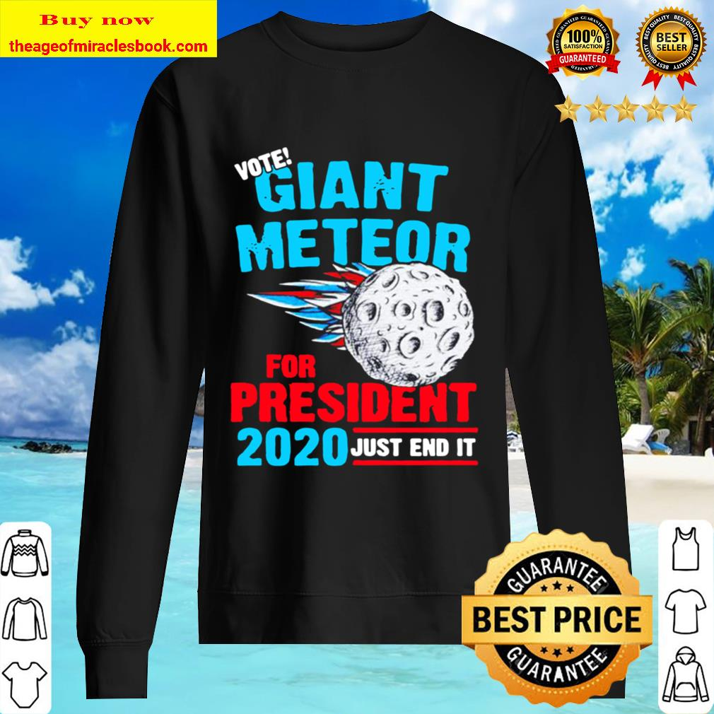 just end it Vote Giant Meteor for president 2020 Sweater