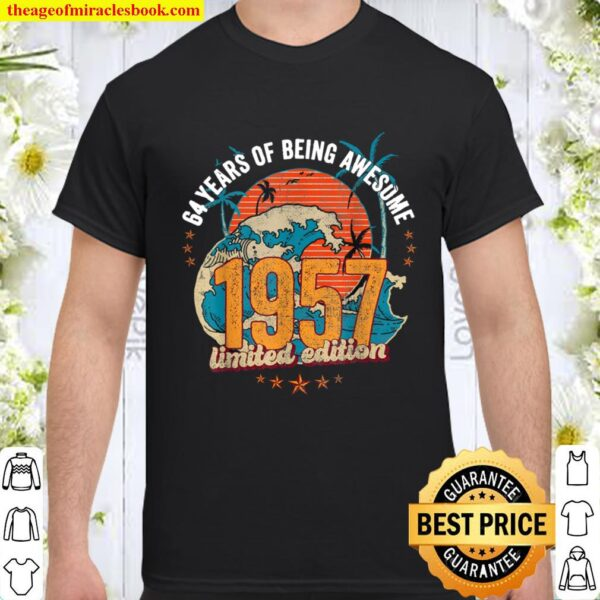 64 Year Old Gifts Vintage 1957 Edition 64th Birthday Shirt