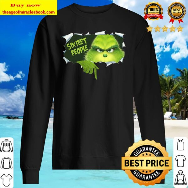 Christmas Grinch Six Feet People Shirt, Social Distancing, Quarantined Shirt