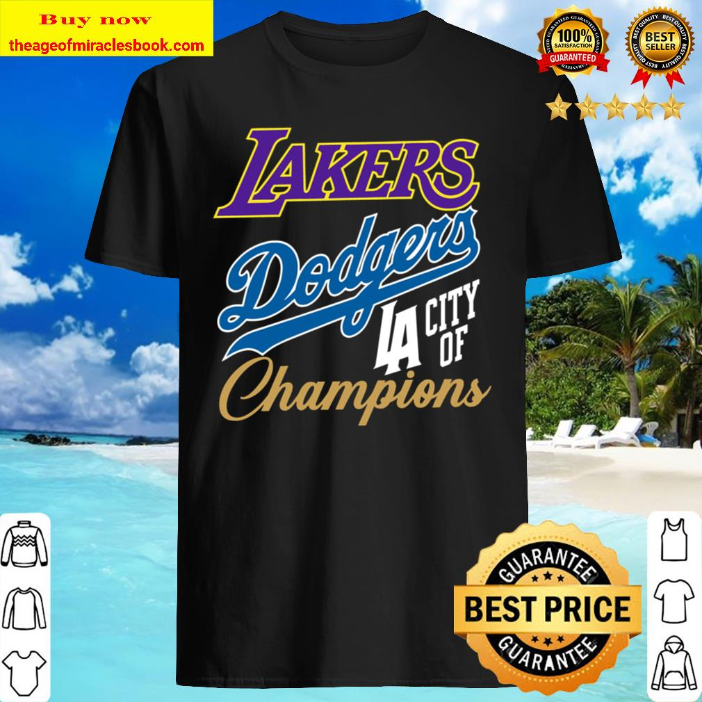 Dodger Lakers Mens _ Womens Tee, los angeles, city of champions, sport Shirt