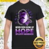 Epilepsy Awareness Shirts Supporting Fighters Butterfly Shirt