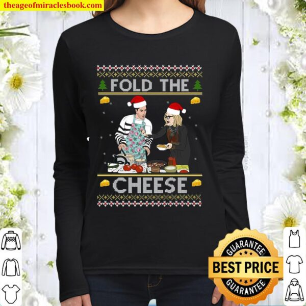 Fold The Cheese Unisex Christmas Women Long Sleeved