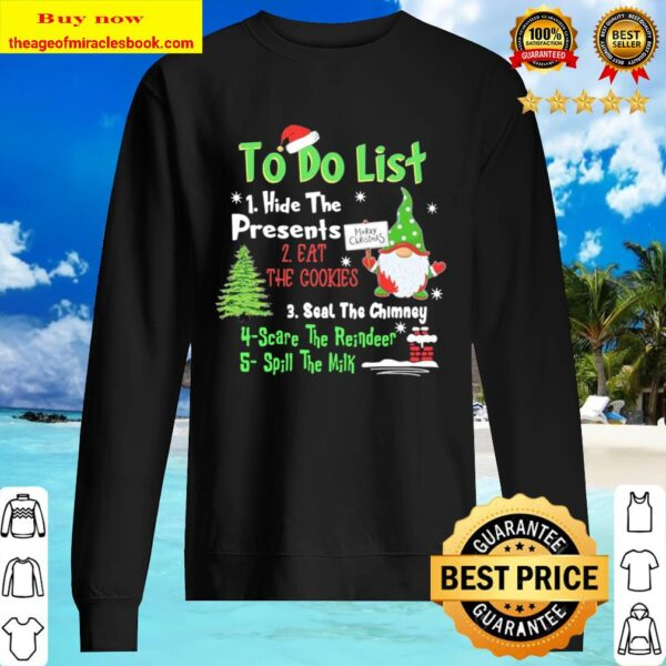 Gnome to do list hide the Presents Christmas Sweater