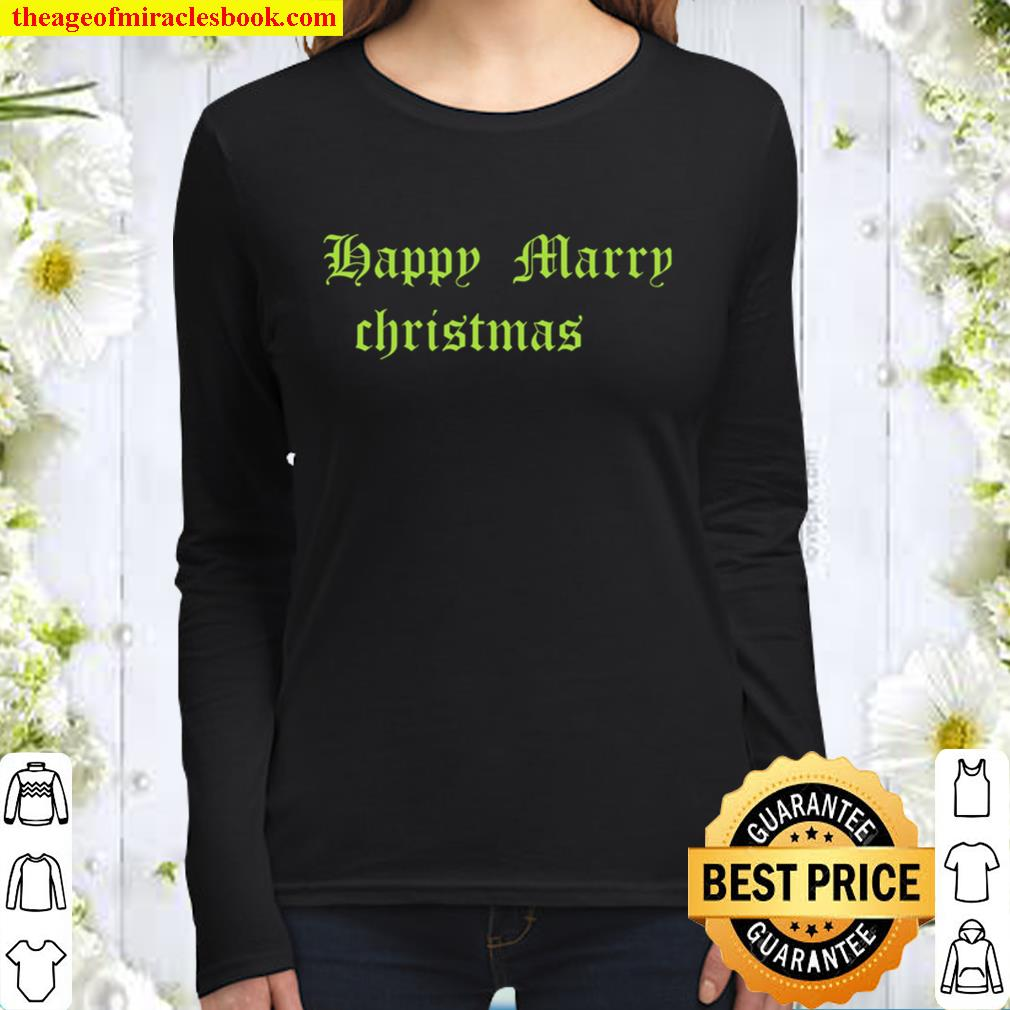 Happy Marry Christmas Women Long Sleeved