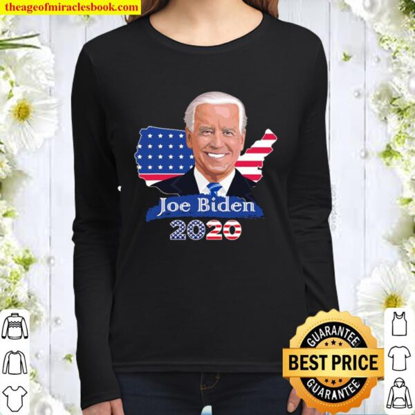 Joe Biden 2020 American Flag Map Election Women Long Sleeved