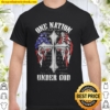 One nation under god wings american flag Shirt