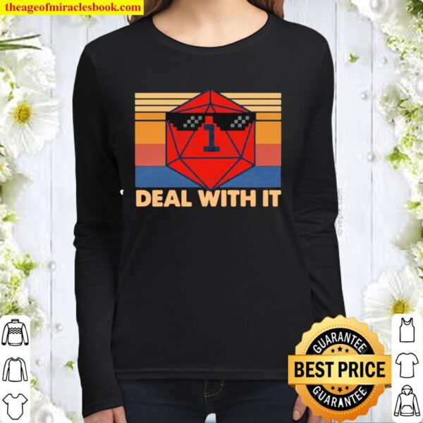 Roll game deal with it vintage retro Women Long Sleeved
