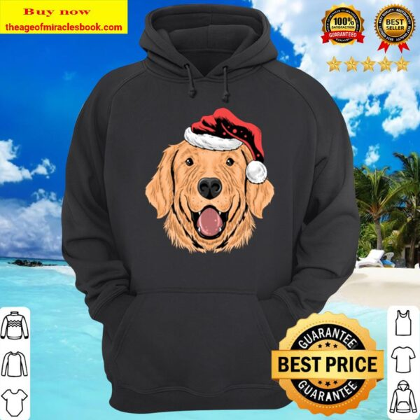 Santa Golden Retriever Puppy Dog Funny Christmas Gift Hoodie