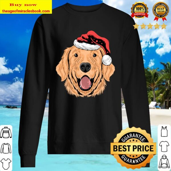 Santa Golden Retriever Puppy Dog Funny Christmas Gift Sweater