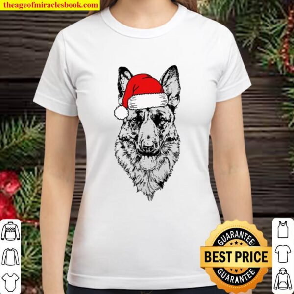 Satan German Shepherd Dog Christmas Classic Women T-Shirt