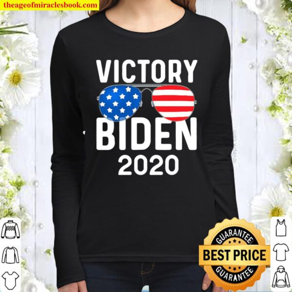 Victory biden harris 2020 president election celebration Women Long Sleeved