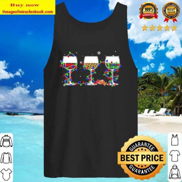 Wines light Merry Christmas Tank Top