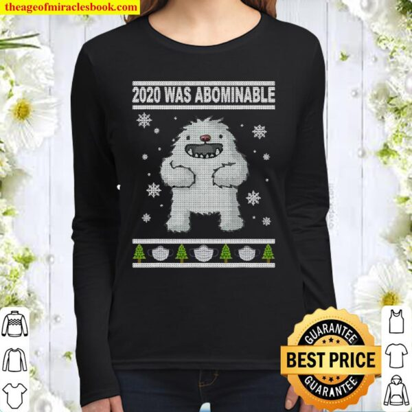 2020 Was Abominable Yeti Christmas Tree Face Mask Women Long Sleeved