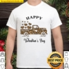 Animal Print Truck, Happy Valentines Day, Valentines Day Shirt For Cou Shirt