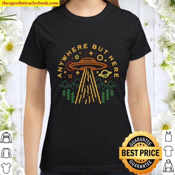 Anywhere But Here Vintage UFO T Classic Women T-Shirt