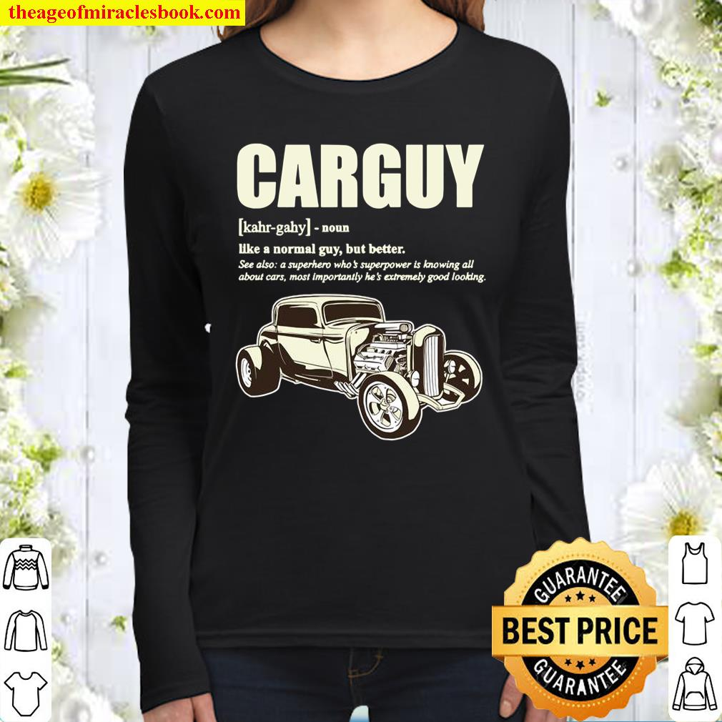 Car Guy Design With Definition Of A CARGUY Women Long Sleeved