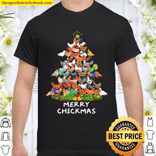 Chickens Merry Christmas tree Shirt