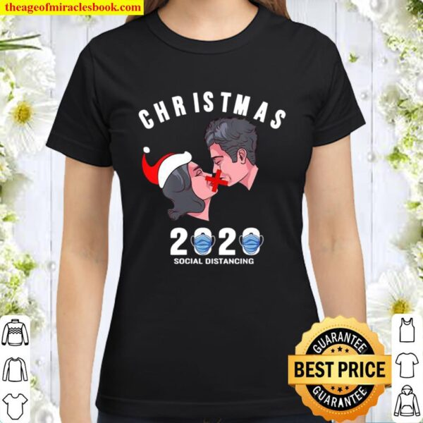 Christmas 2020 Social Distancine No Kiss Wear Mask Classic Women T-Shirt