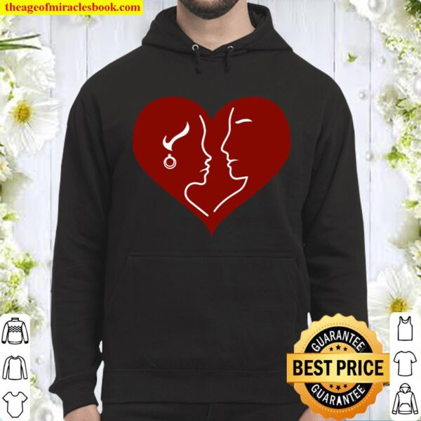 Couples Together in Heart Be My Valentine Gift Hoodie