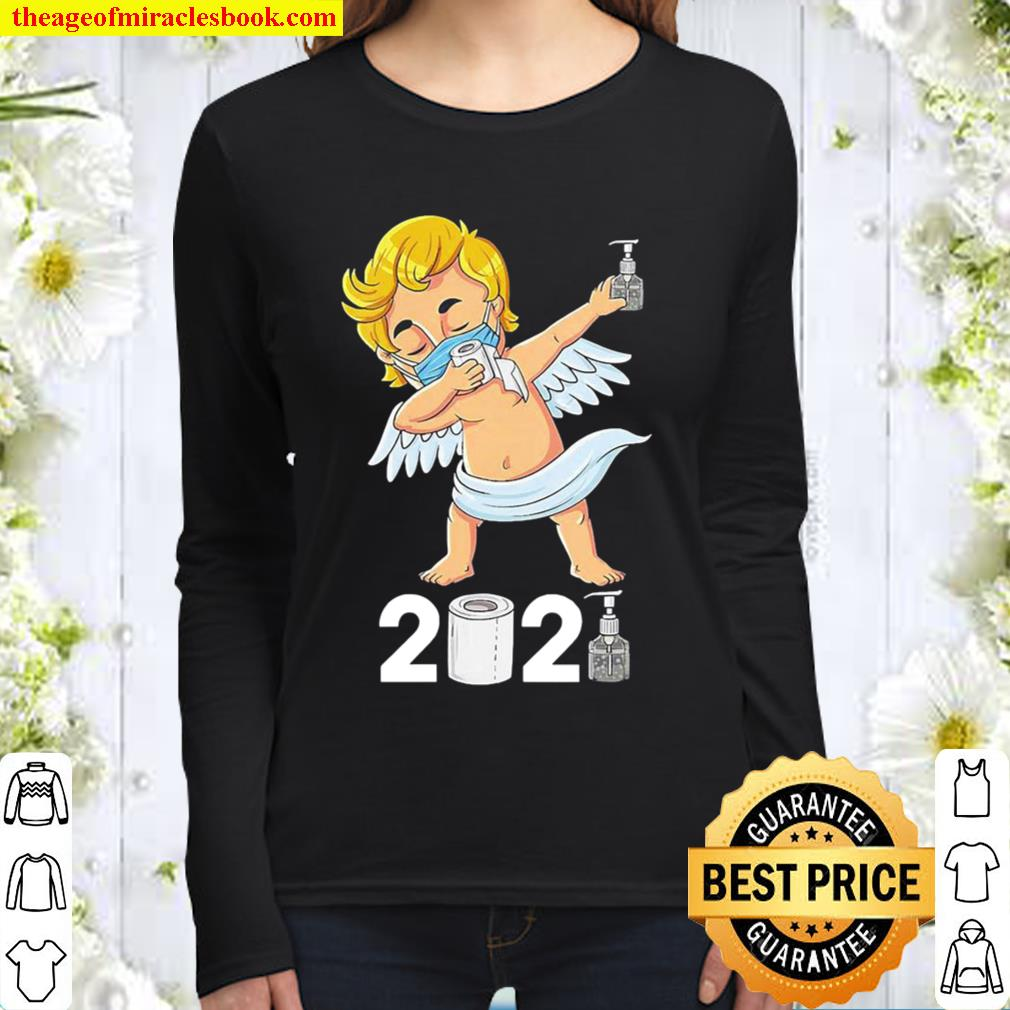 Dabbing cupid in a mask funny valentines day 2021 dab Women Long Sleeved