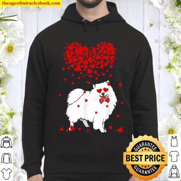 Funny American Eskimo Outfit Dog Lover Valentine Gifts Hoodie