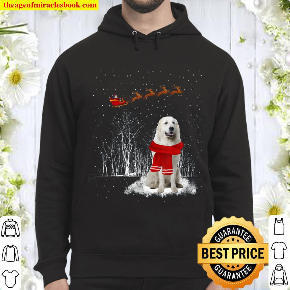 Great Pyrenees Is Watching The Snow Christmas Gift Hoodie