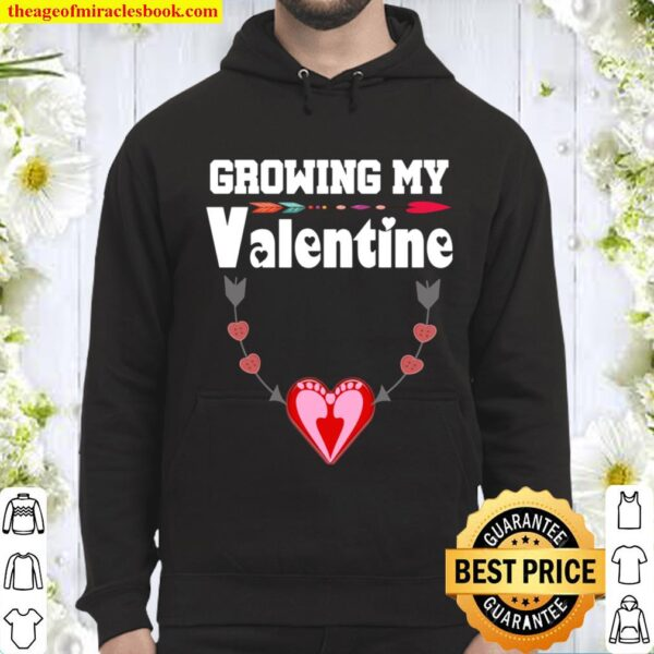 Growing My Valentine Pregnancy Announcement party Hoodie