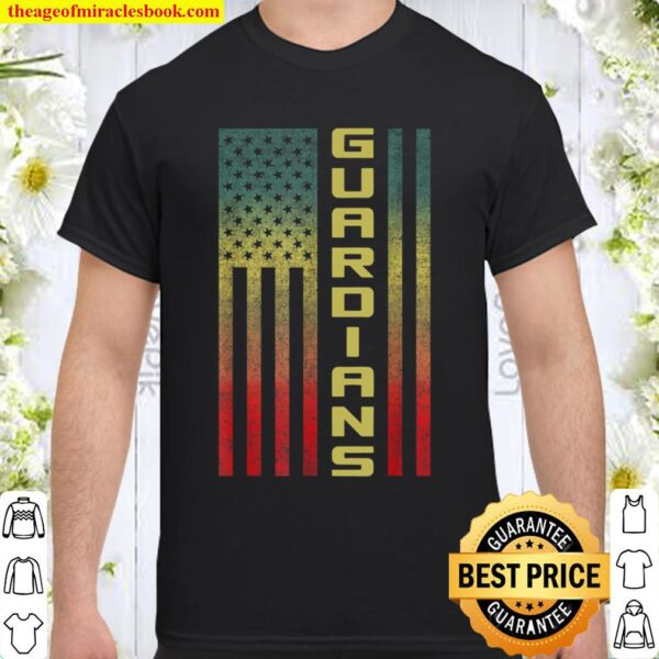 Guardians of Space Defense Vintage Flag - USA Military Force Shirt