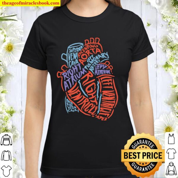 Heart Specialist Anatomy Doctor Medical Biology Giftt Classic Women T-Shirt