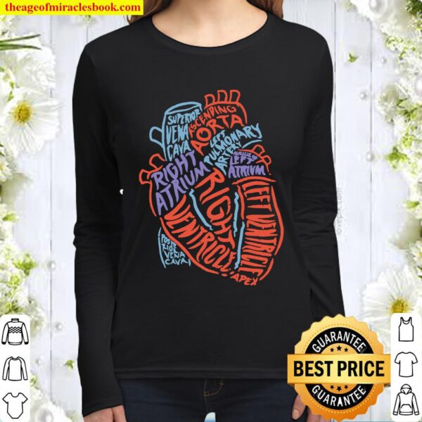 Heart Specialist Anatomy Doctor Medical Biology Giftt Women Long Sleeved