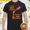 Hot Peppers Mixed Sauce Challenge Funny Spicy Food Shirt
