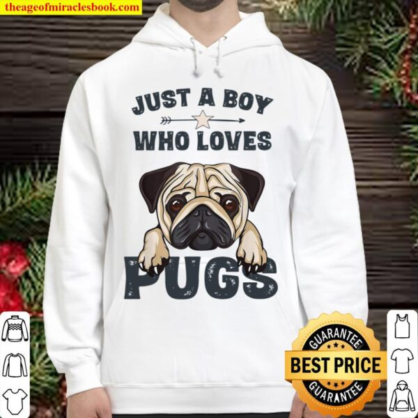 Just A Boy Who Loves Pugs Hoodie