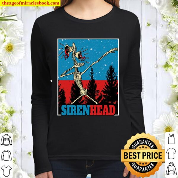 Large Creepy Funny Dabbing Siren Head Women Long Sleeved