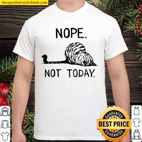 Lazy Cat Nope Not Today Funny Shirt